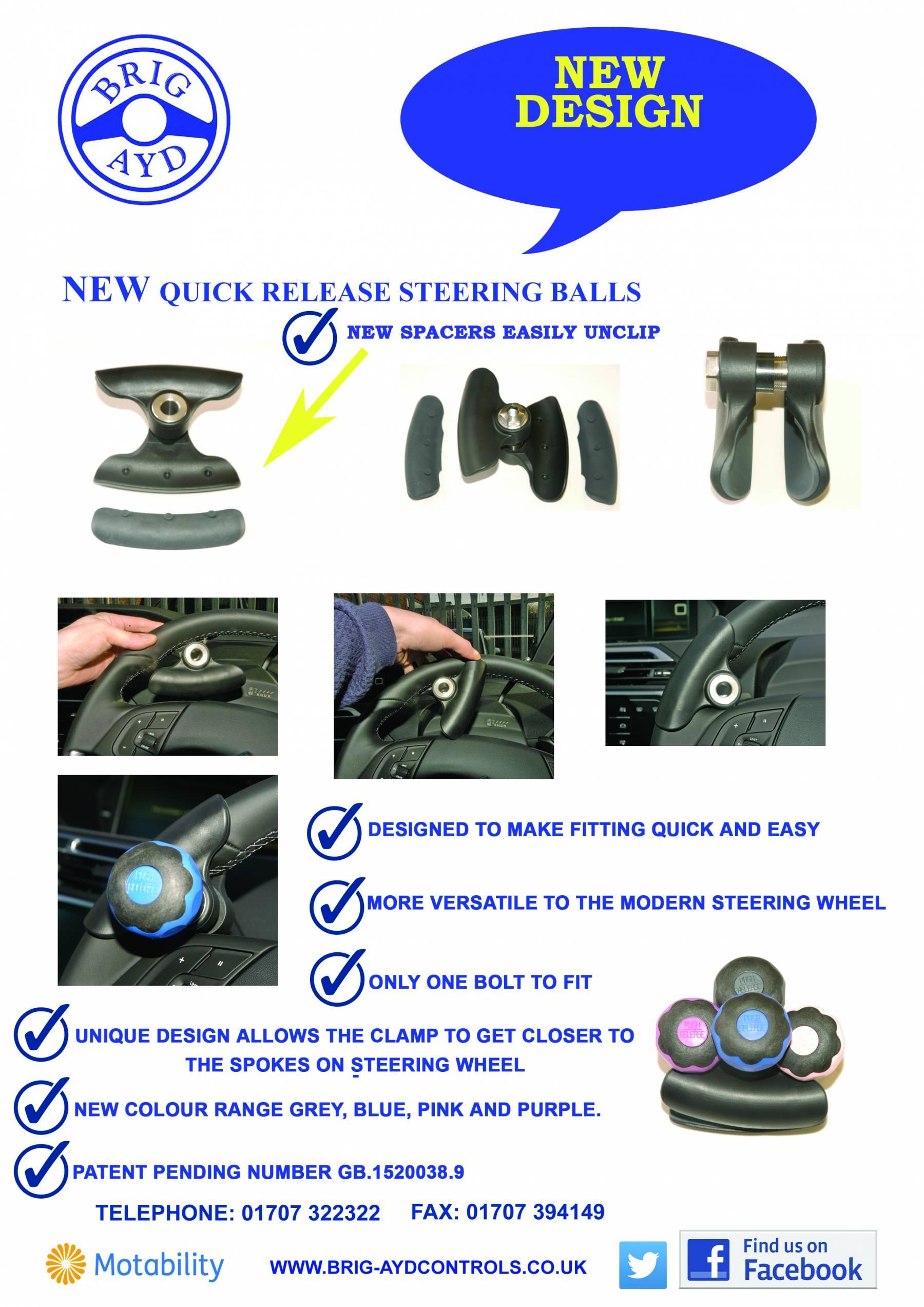 New Quick Release Steering Balls